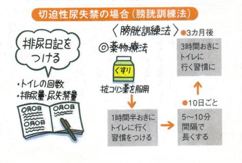 尿漏れ頻尿に膀胱訓練法
