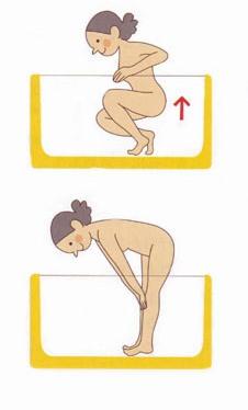 膝の痛みに、お風呂ストレッチ