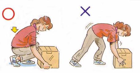 腰痛を防ぐ正しい姿勢・持ち上げる
