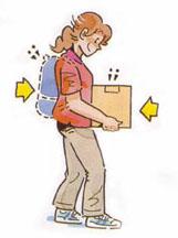 腰痛を防ぐ正しい姿勢・運ぶ
