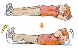 簡単にできる腰痛体操・おなか